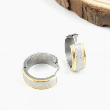 Argolas em aço Brilliant Silvery