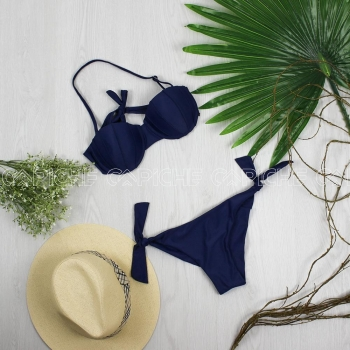 Bikini Buton Azul