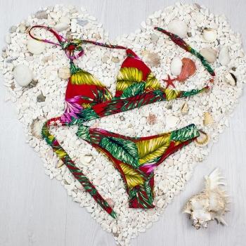 Bikini Fringe Vermelho