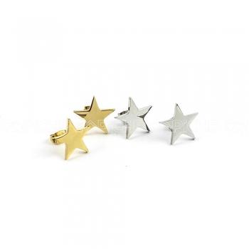 Brincos em aço estrela