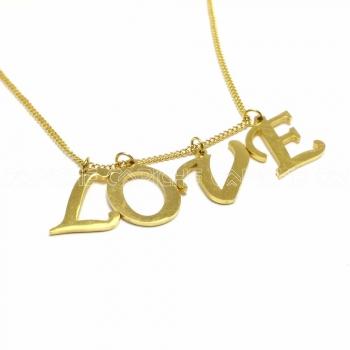 Colar aço Letras Love