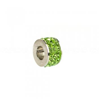 Conta em aço safira verde
