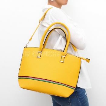 Mala Zipper Amarela