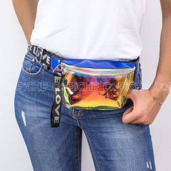 Mala de cintura Love Azulão