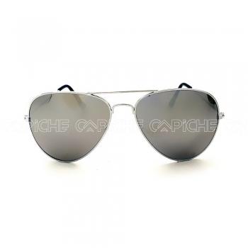 Oculos de sol Aviator Silver L