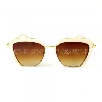Oculos de sol Square Creme