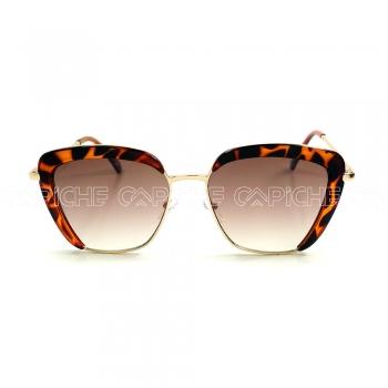 Óculos de sol Square Turtle Castanho