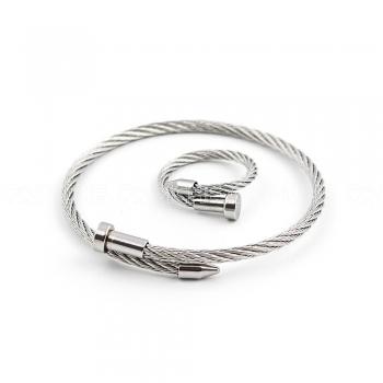 Conjunto de Pulseira e anel Twist