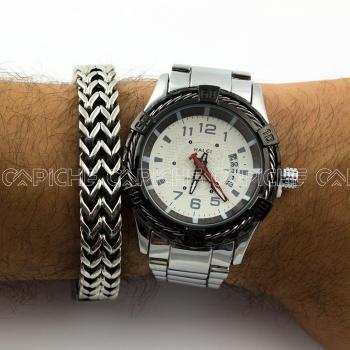 Relógio em aço Brave