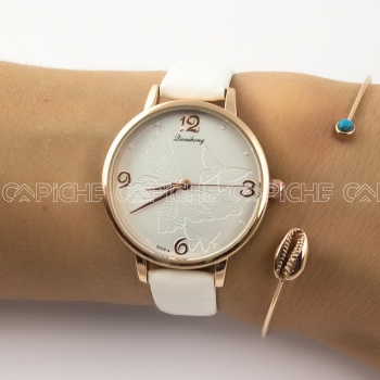 Relógio Borboleta Branco