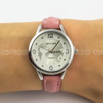 Relógio Gato Rosa