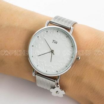 Relógio em aço Tia
