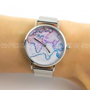 Relógio em aço Mundo