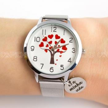 Relógio em aço Minha Vida