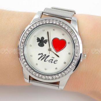 Relógio Mãe prateado