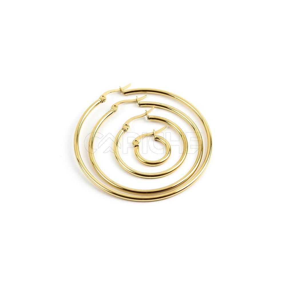 eecd1dcd4 Argola em aço Dourado - CAPICHE - Loja online de Moda e Acessórios