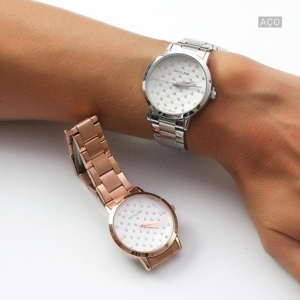 2a192571eba5c Relógio em aço Diamond - CAPICHE - Loja online de Moda e Acessórios