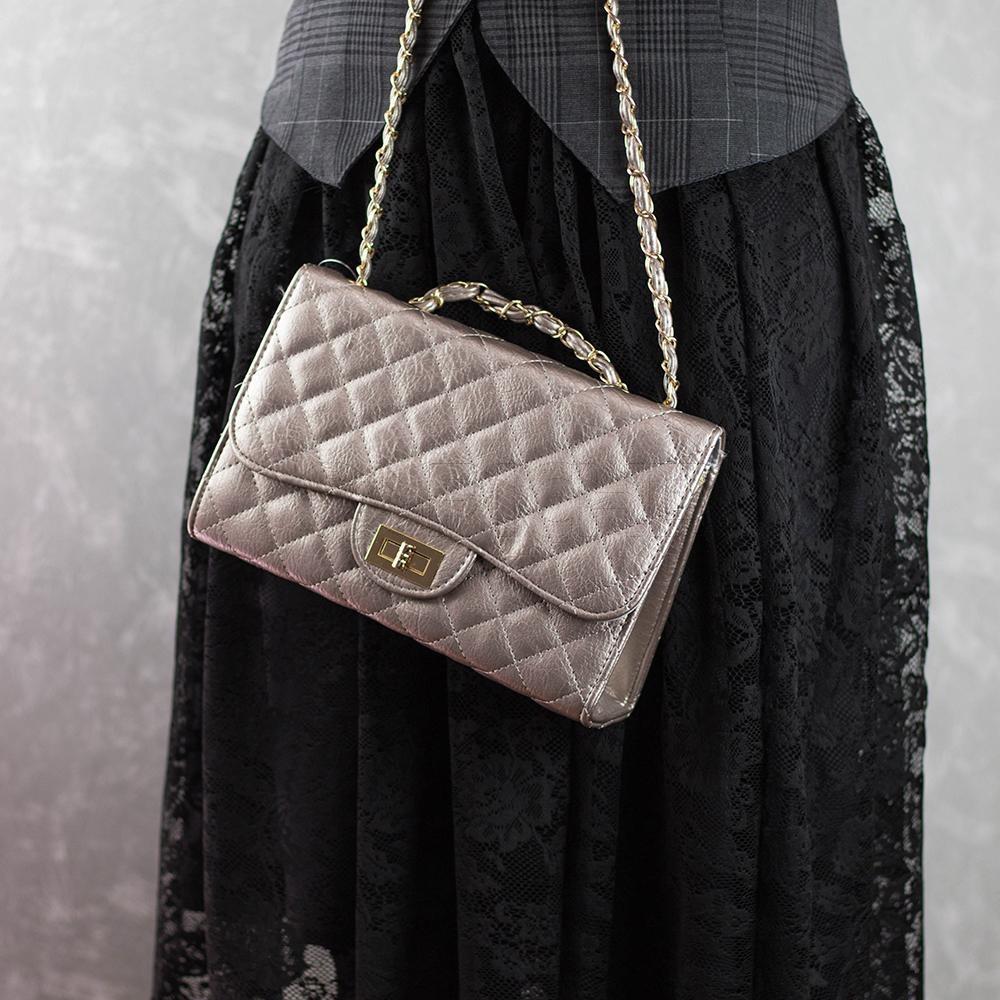 5c64b2405 Malote Onelia Silver - CAPICHE - Loja online de Moda e Acessórios