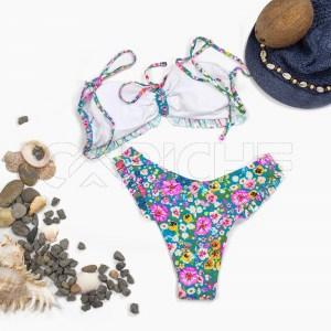 Conjunto bikini Volado Azul