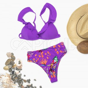 Conjunto bikini Salvador Roxo