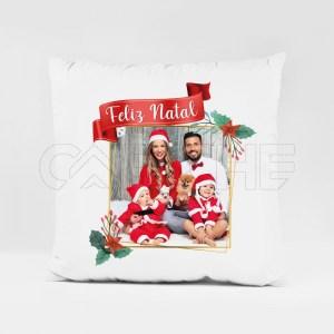 Almofada com Foto Feliz Natal