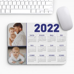 Tapete de Rato Calendário 2022 com Foto
