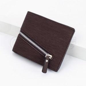 Carteira Zipper Castanho Chocolate