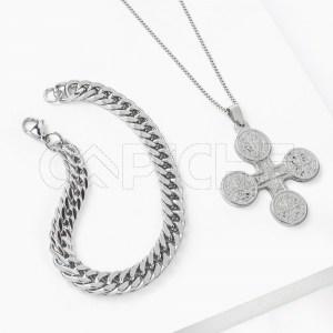 Conjunto de colar com pulseira