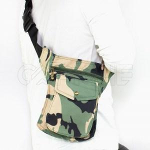 Bolso de cintura militar Beje