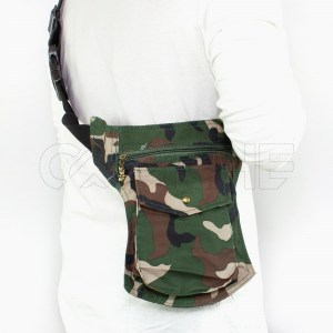 Bolso de cintura militar verde
