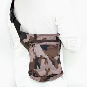 Bolso de cintura militar Castanho