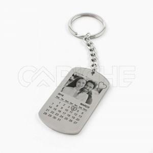 Porta chaves com fotografia e calendário