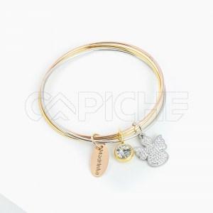 Bracelete tripla em aço Madrinha