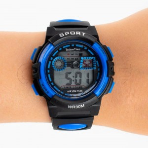 Relógio Sport preto azul