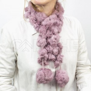 Gola Pompom Rosa