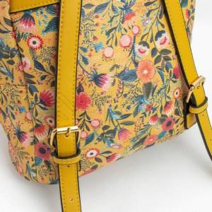 Mochila Floral Amarela