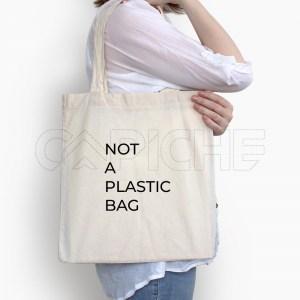 Saco Tote Bag Not a Plastic Bag