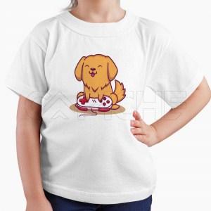 Tshirt Criança Cão Gamer
