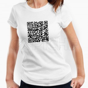 Tshirt Senhora QR Personalizável