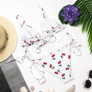 Bikini Cherry Branco
