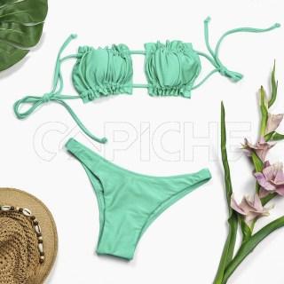 Conjunto bikini Cortina verde