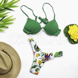 Conjunto bikini Push Up Verde