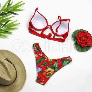 Conjunto bikini Push Up vermelho