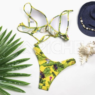 Conjunto bikini Boho amarelo