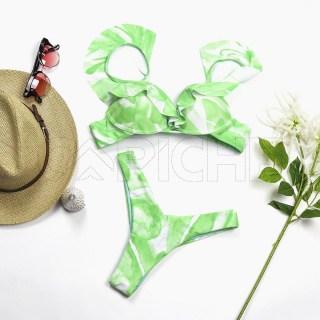Conjunto bikini Tie Dye Di Verde