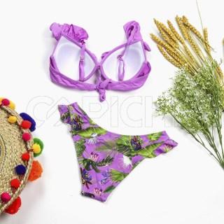 Conjunto bikini Plissado Lilás
