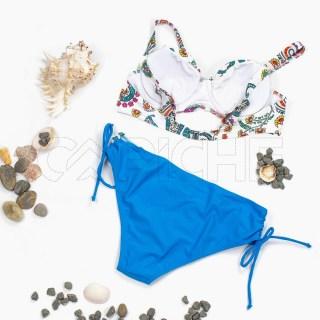 Conjunto bikini Relle Branco Plus Size