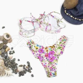 Conjunto bikini Volado Branco