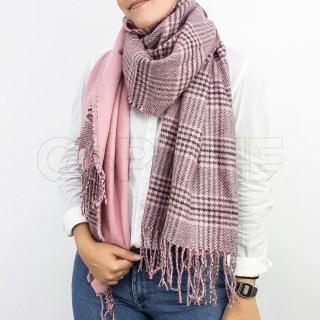Écharpe Quadricular Rosa