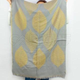 Écharpe Folha Cinza Amarelo